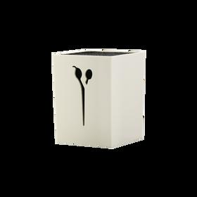 SIBEL Schaarhouder Egel Wit/Zwart
