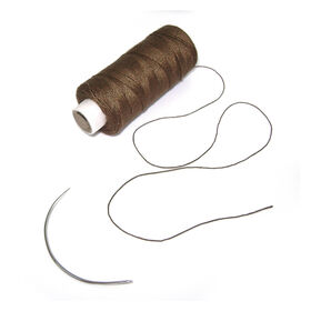 Balmain Soft Blend Weaving Thread & Needle Brown