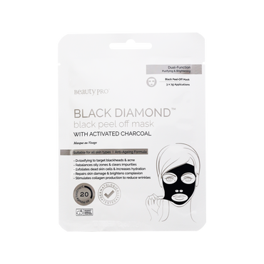 Beauty Pro Gezichtsmasker Black Peel Charcoal 3x7ml