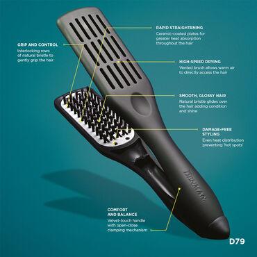Denman Brush D79 Straightening Brush Black